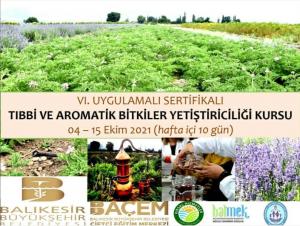 BAÇEM'den Tıbbi ve Aromatik Bitkiler Yetiştiriciliği Kursu