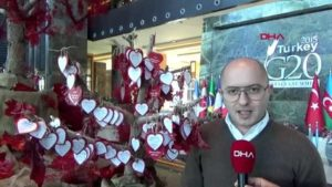 Antalya otelde, sevgililer günü'ne özel dilek ağacı konsepti