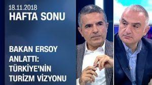 Bakan Mehmet Nuri Ersoy ileturizmdeki gelişmeler – Hafta Sonu 18.11.2018 Pazar
