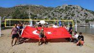Son dakika haberleri… Marmaris Selimiye'de plaj voleybolu heyecanı başlıyor